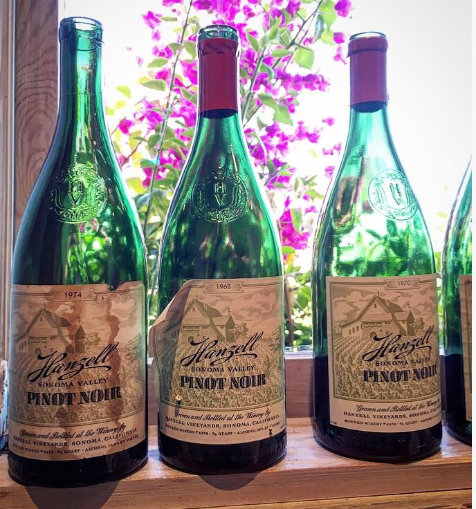 Bottles of Pinot Noir decades old!