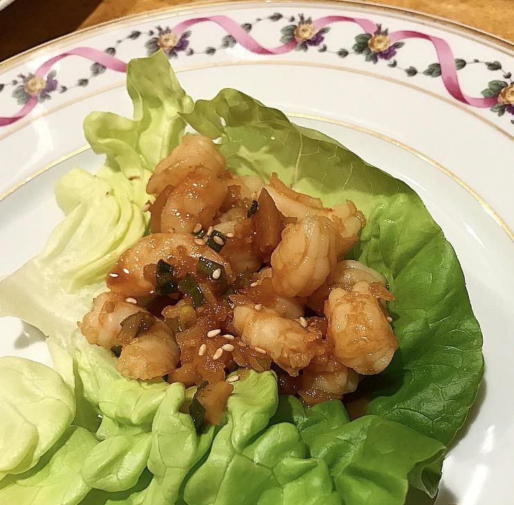 Hoisin Shrimp Lettuce Wrap