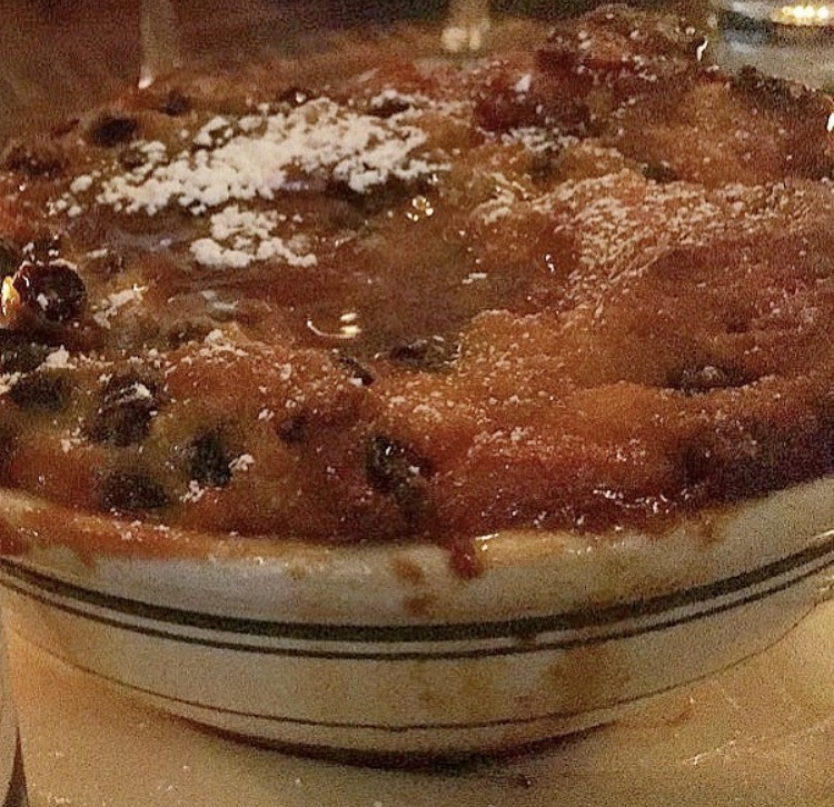 Currant caramel bread pudding, Sfoglia