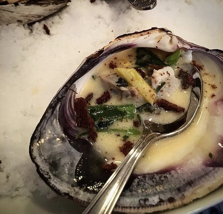 Sherry poached oyster, zadie's Oyster Room