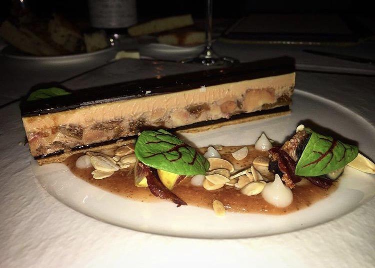 Foie gras and fig terrine, Aureole