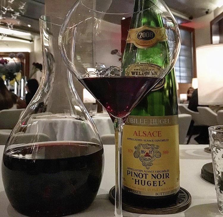 Hugel Pinot Noir from Alsace, Gabriel Kreuther