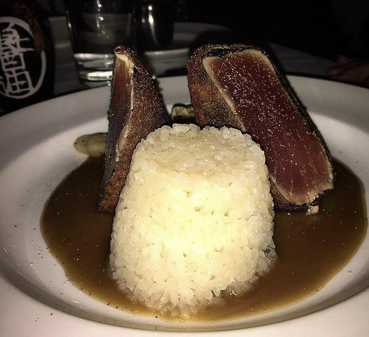 Nori wrapped bigeye tuna with sticky rice, Atlantic Grill