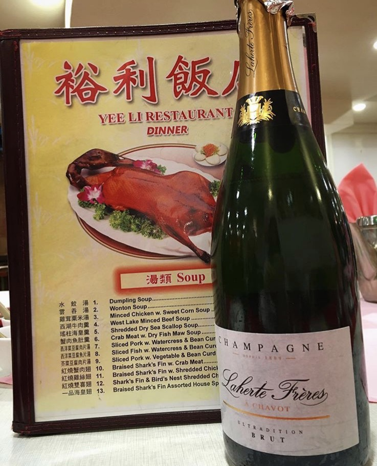 Champagne and Chinese...why not?! Yee Li