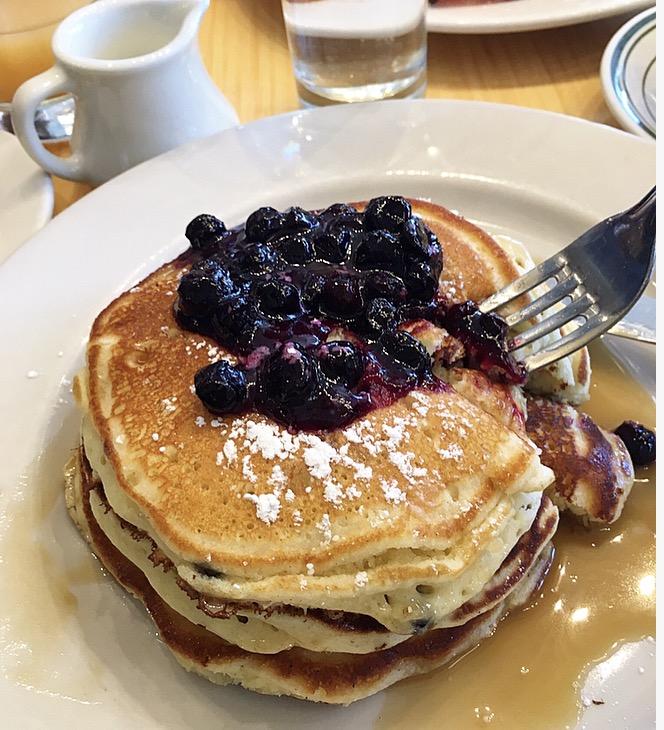 Blueberry pancakes, Clinton Street Baking Company