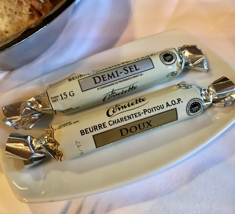 Even the creamy and delicious butter served here is appellation protected (A.O.P.)