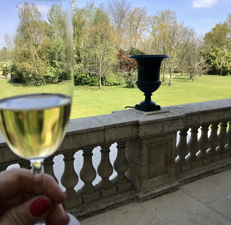 Enjoying my  Krug Champagne  out on the back terrace!