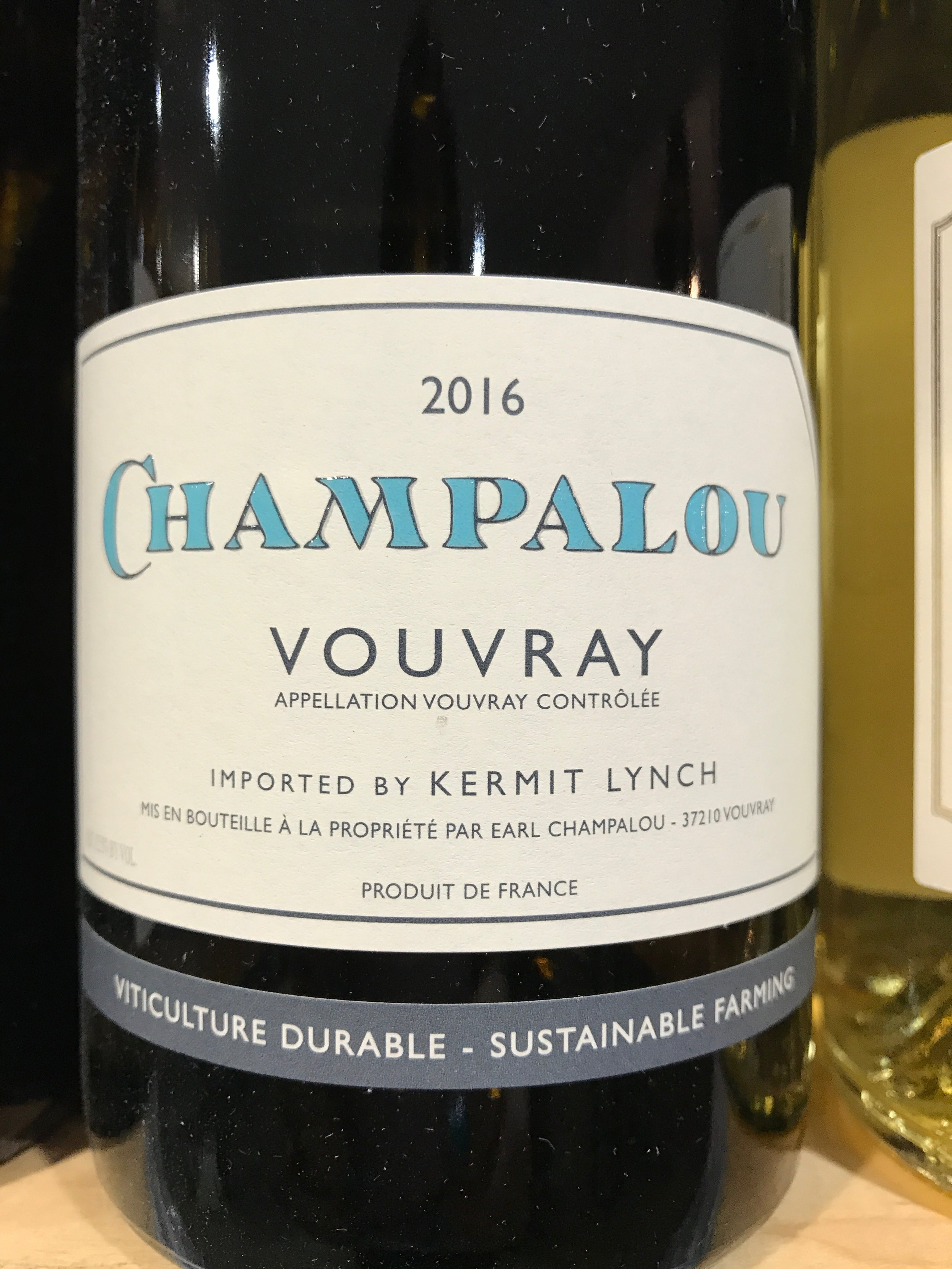 Started in 1983,Champalou has become one of the most acclaimed wineries in Vouvray. Try this dry Chenin Blanc with the pork dish.