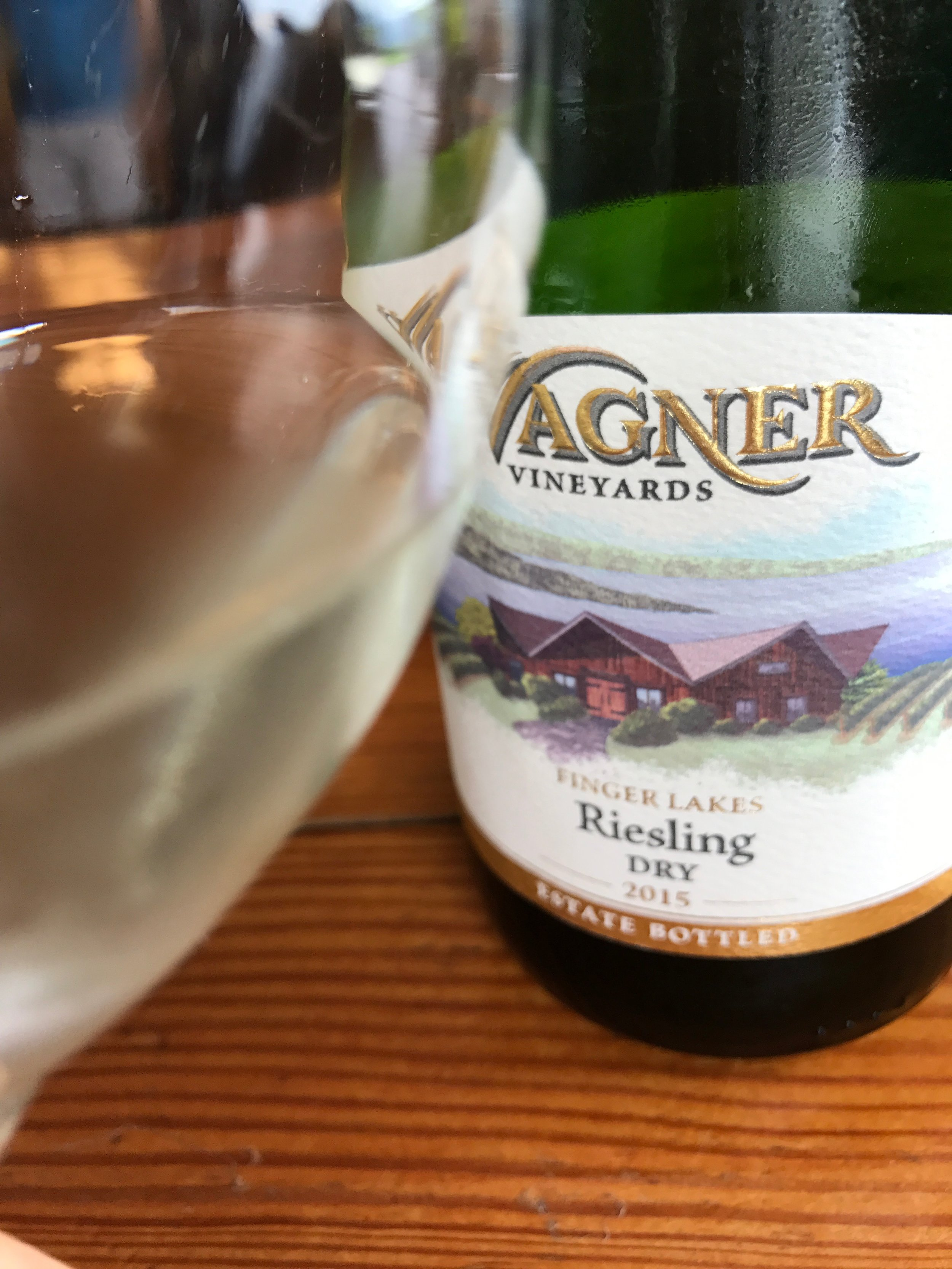 This  Wagner  2015 Dry Riesling comes from the Finger Lakes where some of my favorite rieslings are made. Bright and elegant, it will complement whatever is on your Thanksgiving table with its silky mouthfeel and fresh fruit (peaches!) flavor. Mouthwateringly delicious ($13)!