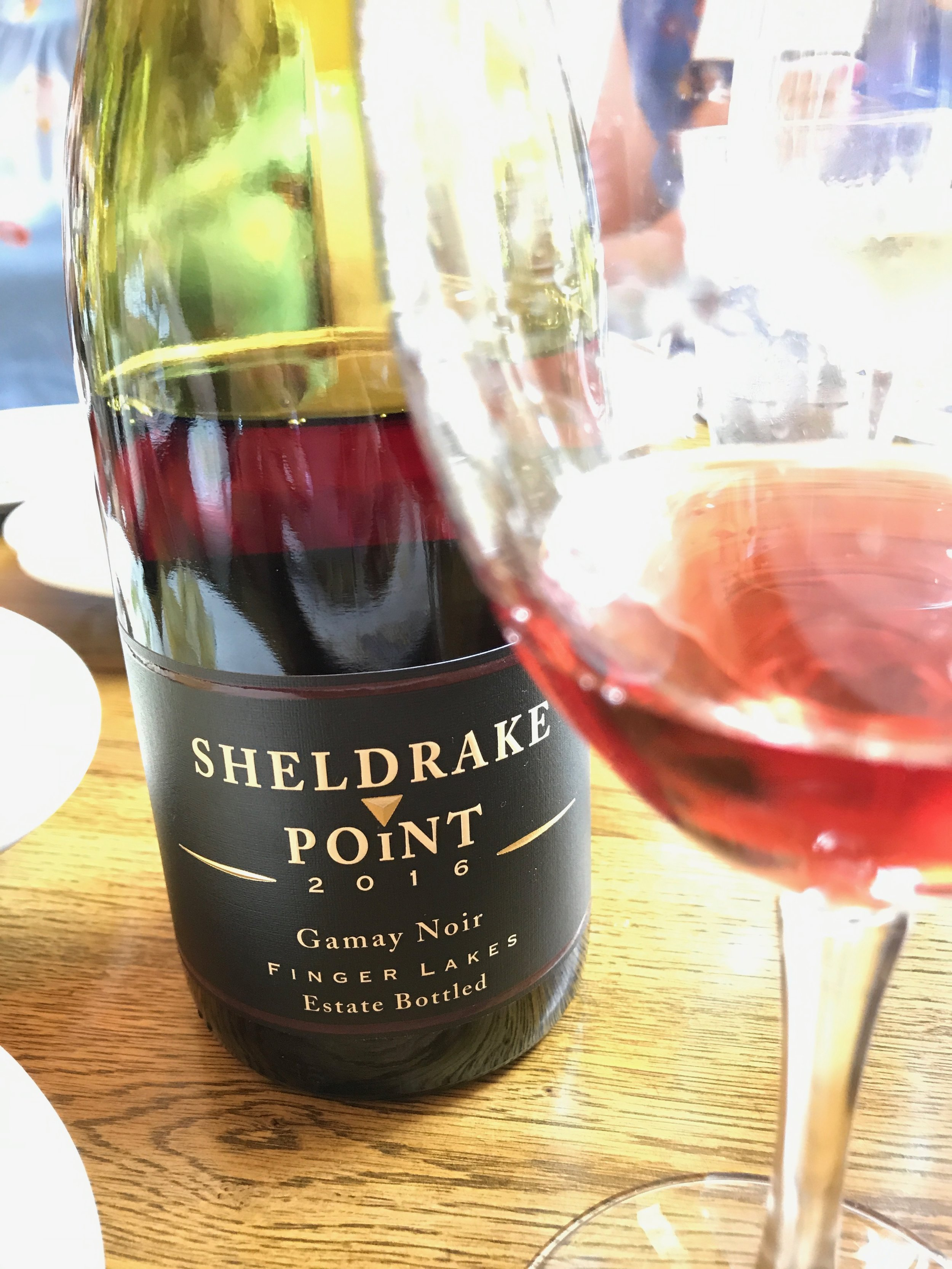 The 2016  Sheldrake Point  Gamay Noir is Medium-bodied with soft aromatics of dried flowers and fresh red berries, It's the wine I hope to be drinking with my Thanksgiving Turkey. Another Finger Lakes Favorite!! ($15-a true bargain!)