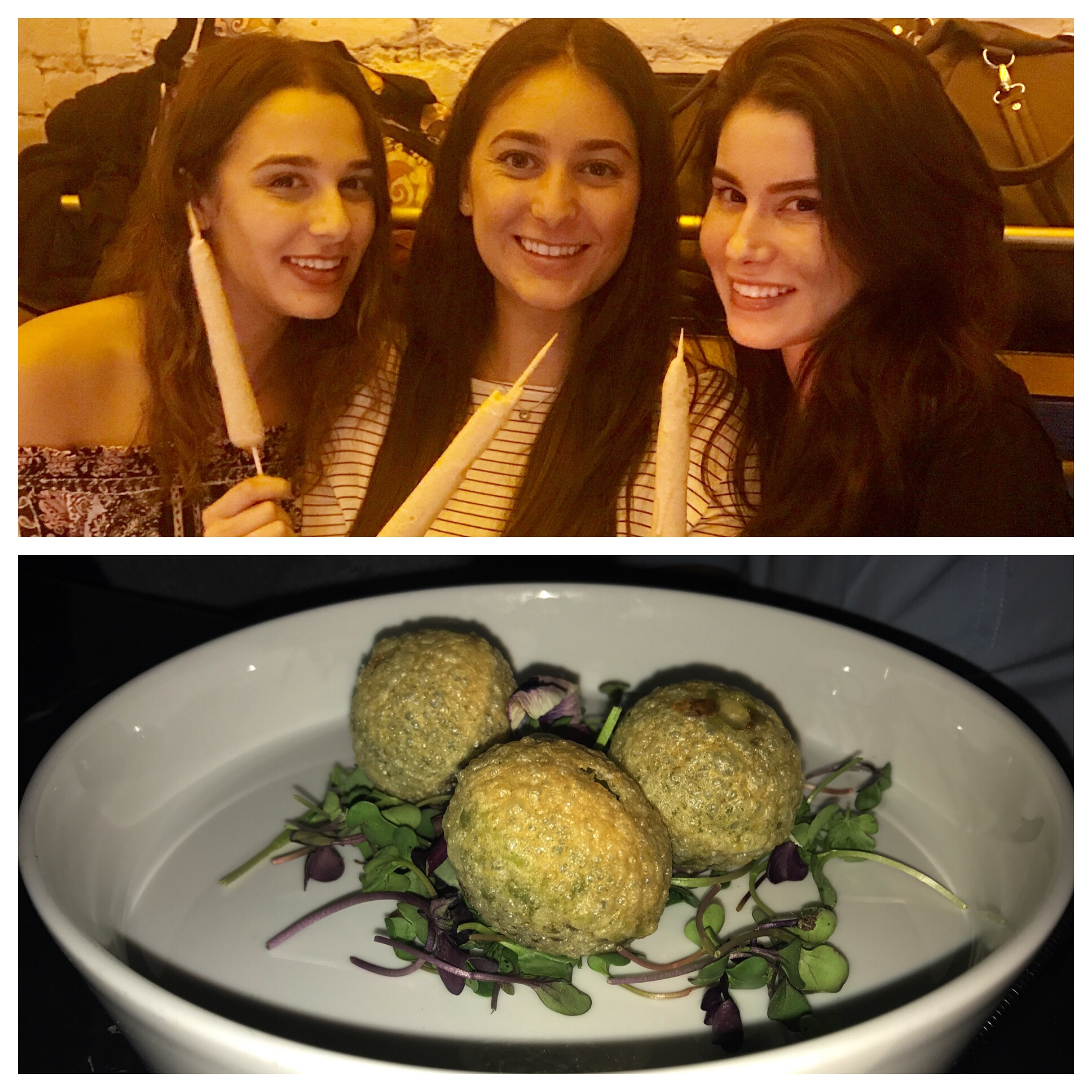 "My girls enjoying the Kulfi dessert ""pops"" and the ""golgappas"" were one-bite wonders!"