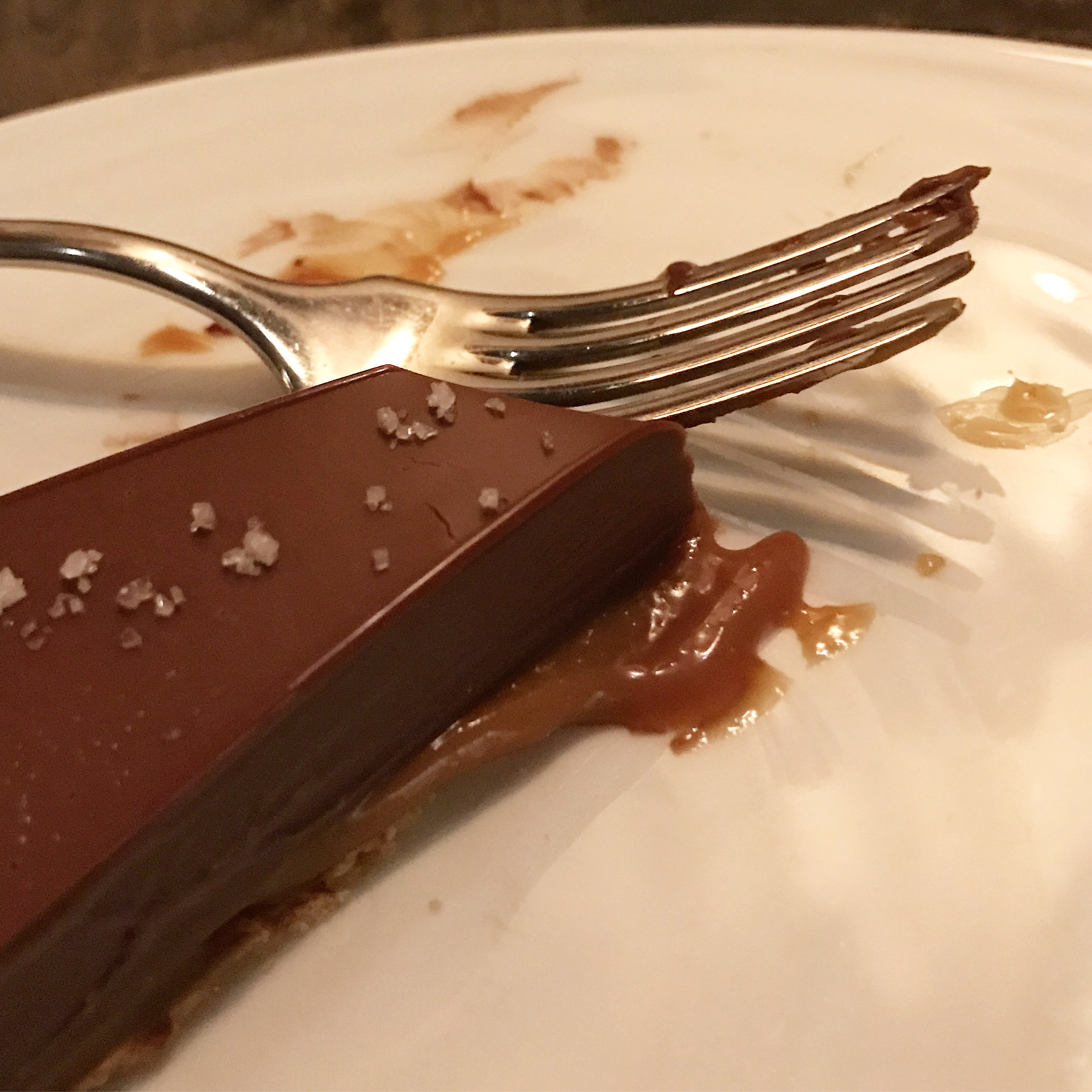 I dream of this salted chocolate tart almost every night! I think it's The layer of caramel that has oozed into my subconscious!!