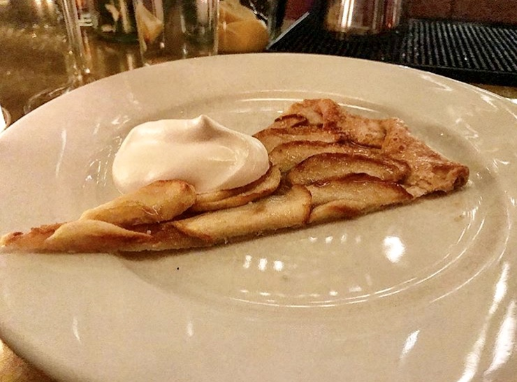 Apple tart with Creme fraiche at Cafe Altro Paradiso