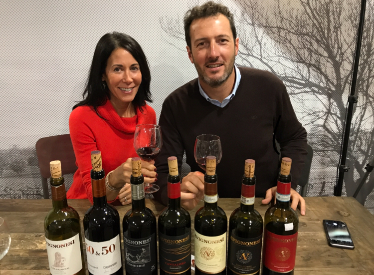 Tasting the wine with Adriano at Grape Collective