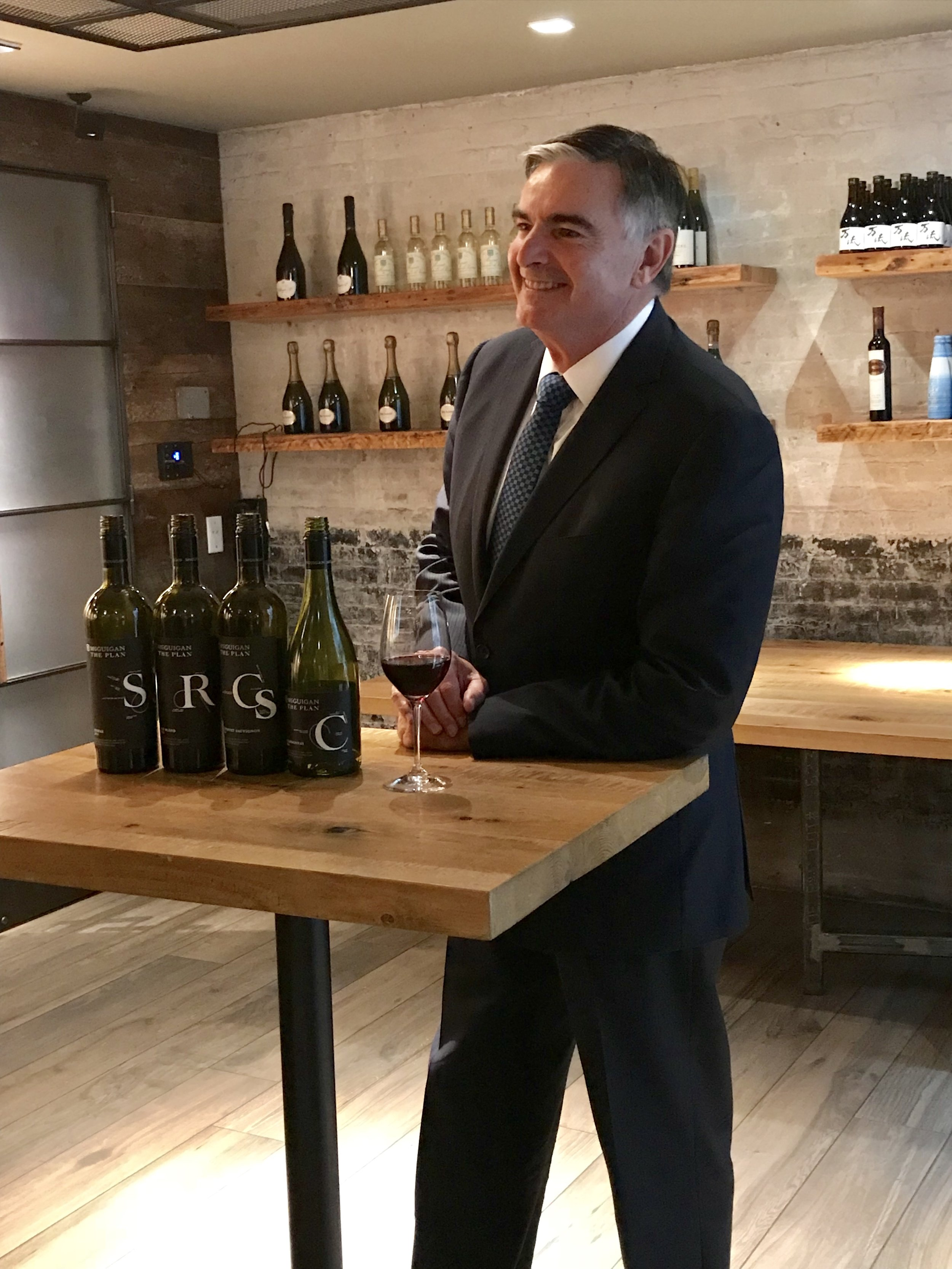 Neil McGuigan with The Plan wines
