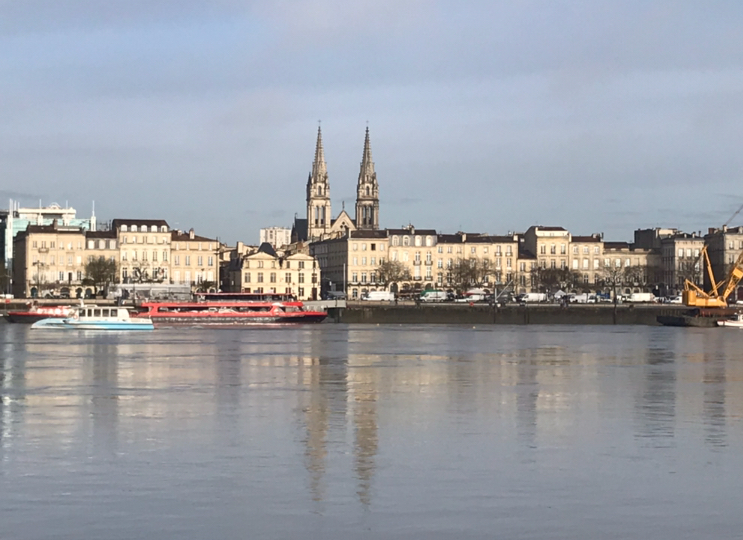 View of Bordeaux from across the Garonne River