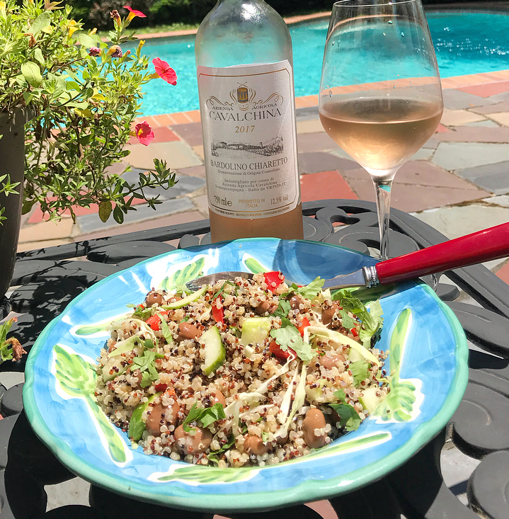 The 2017    Cavalchina    Chiaretto is A Wine Chef Favorite for its beautiful pale salmon color and subtle notes of wild strawberries and raspberries. This mouthwatering Rosé has just the right amount of bitterness, offsetTing its fruit and lingering on the palate. There's a delicate saline quality that makes it extremely refreshing.