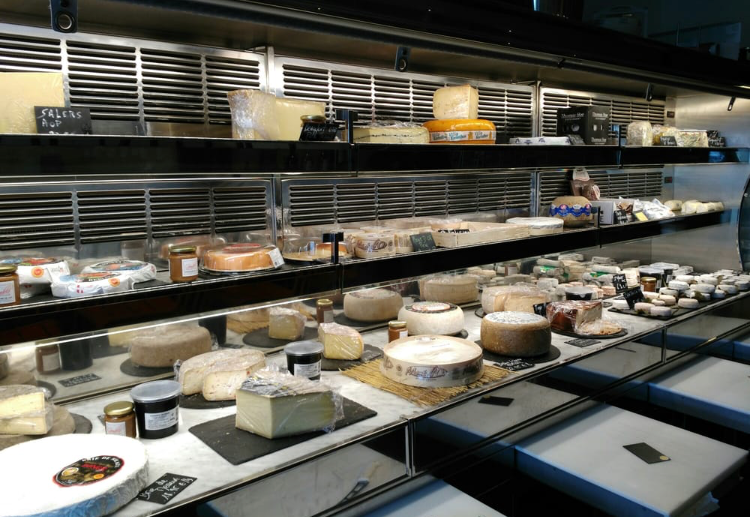 Amazing selection of cheeses at Bistrot Du Fromager
