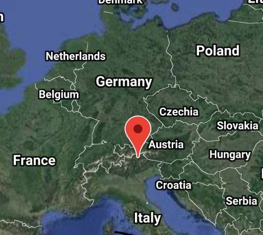 Alto Adige wine region is just south of the Austrian border.