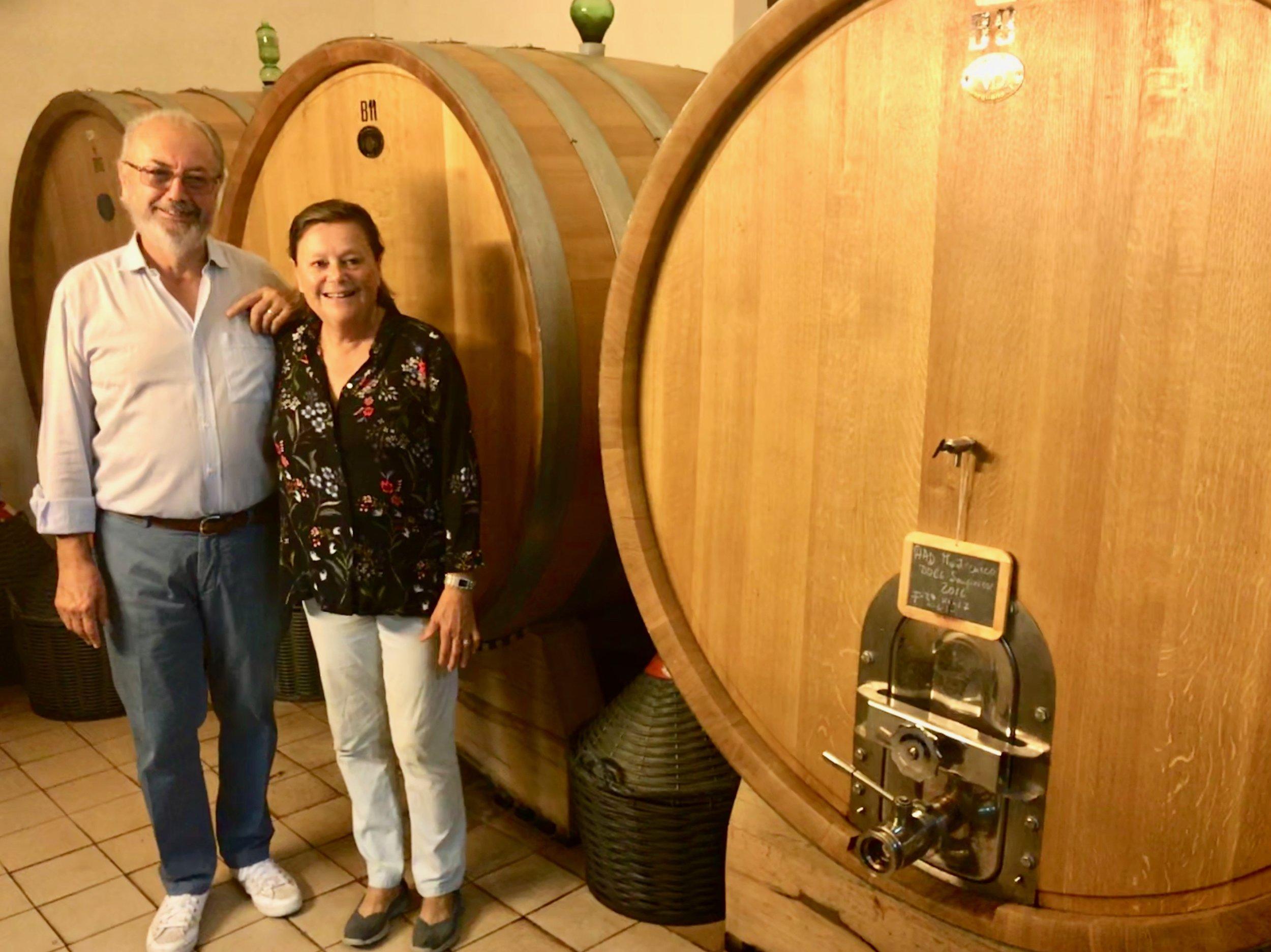 Georgio Nelli and Alda Chiarini of    Poggio al Gello   , a small winery producing organically-certified wines from indigenous varieties