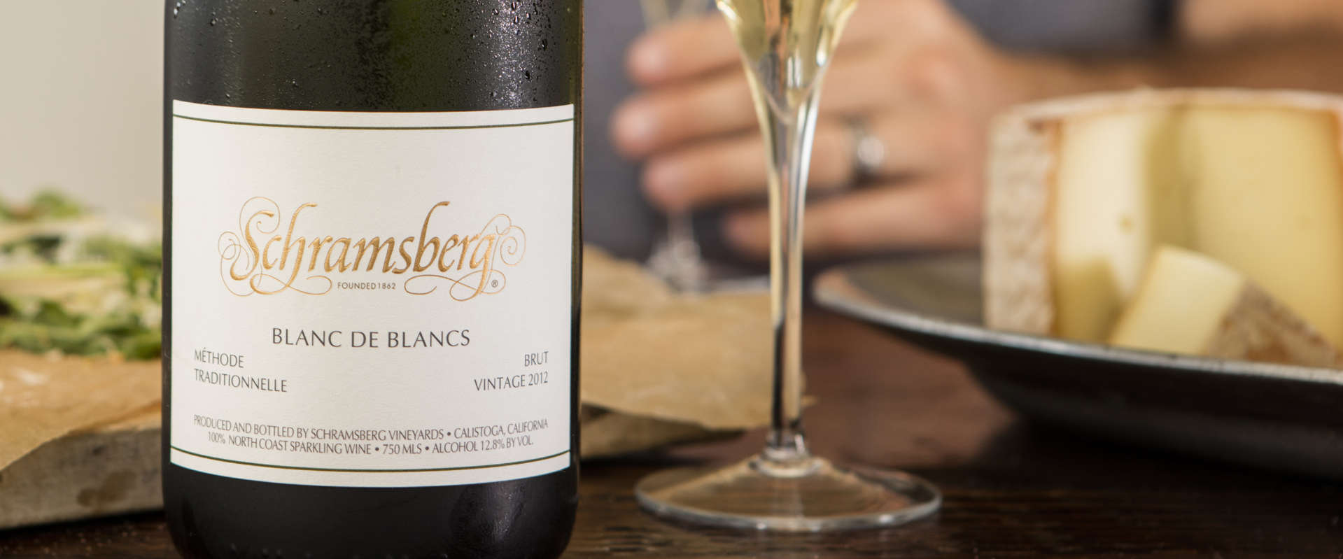 Schramsberg   . an iconic Napa sparkling wine producer, makes a delicious Blanc de Blancs (100% Chardonnay). elegant and savory with a fine and delicate mousse.   Image courtesy of Schramsberg