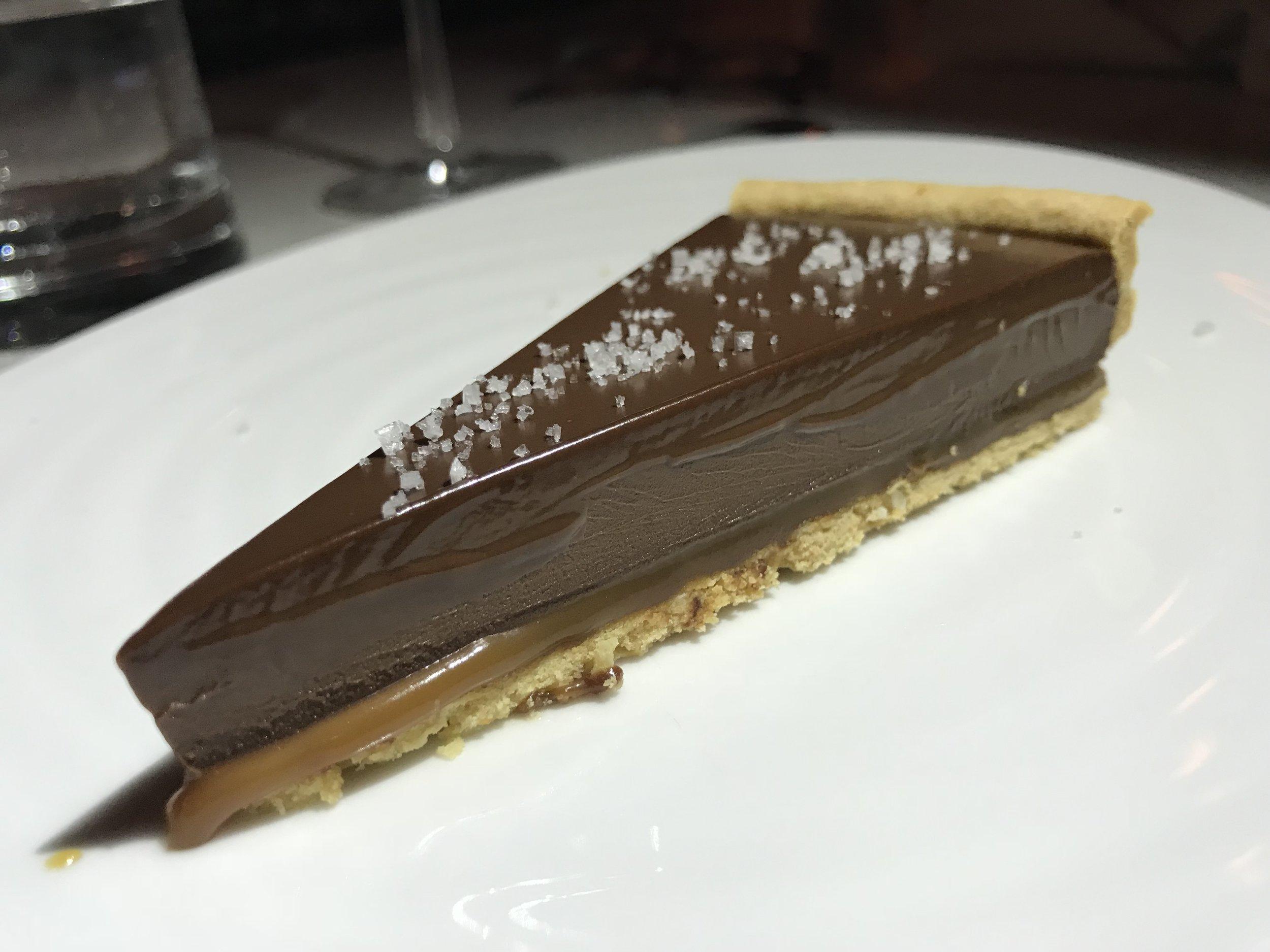 NYC's #1 chocolate caramel tart, Racine's.