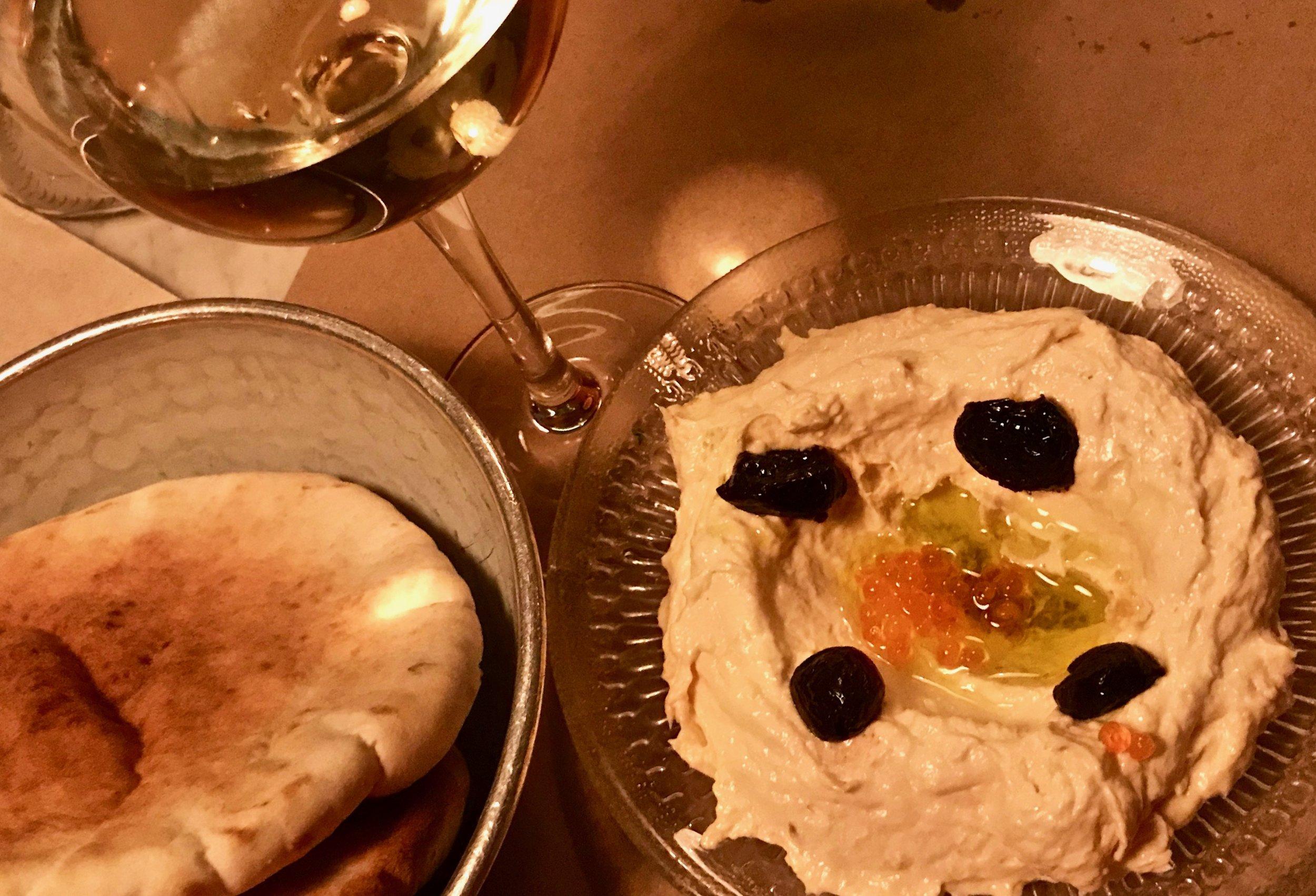 A very fine version of taramasalata, a classic Mediterranean fish spread.