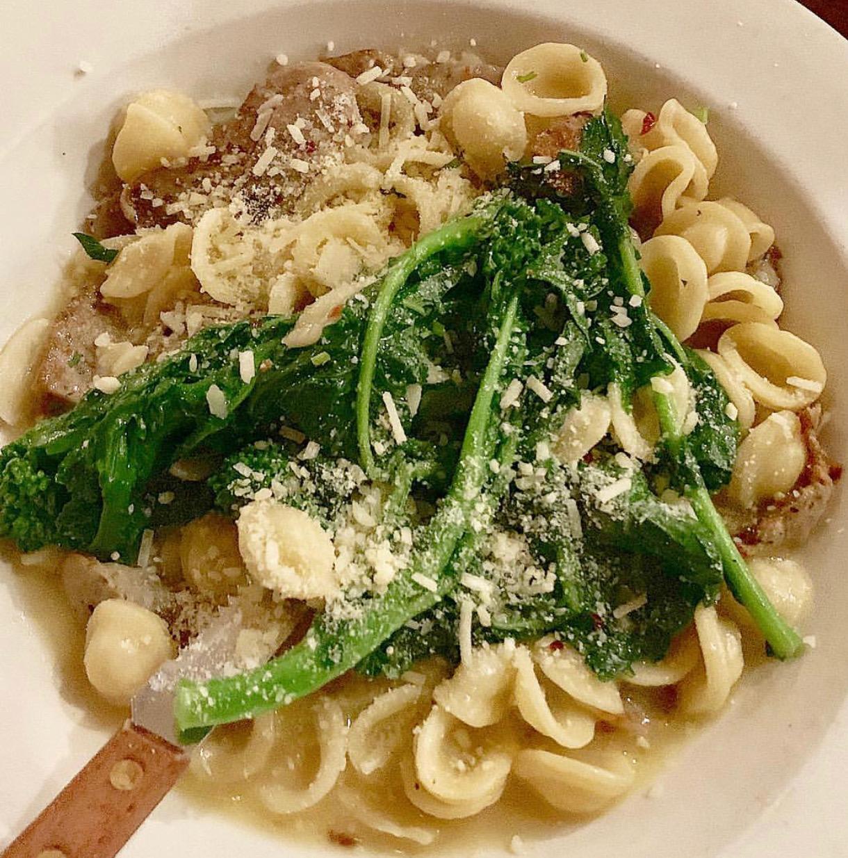 Super satisfying Orecchiette with brocolli rabe at Pisticci.