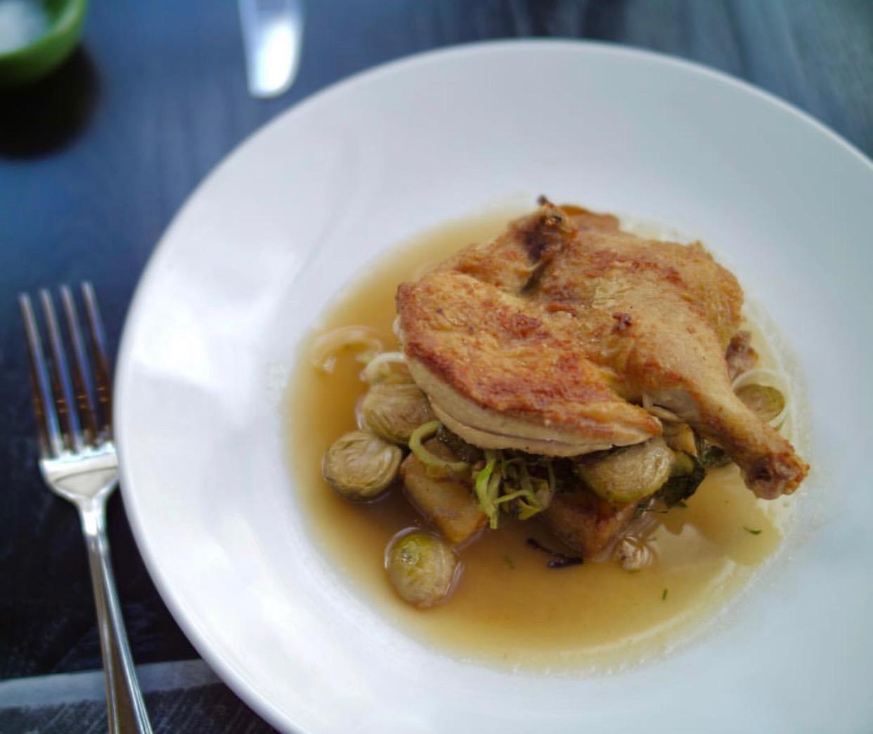 Crispy chicken, photo courtesy of Little Owl.