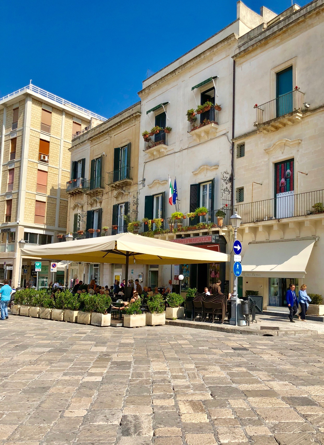 """The beautiful cream-colored stone buildings of Lecce, nicknamed """"The Florence of The South""""."""