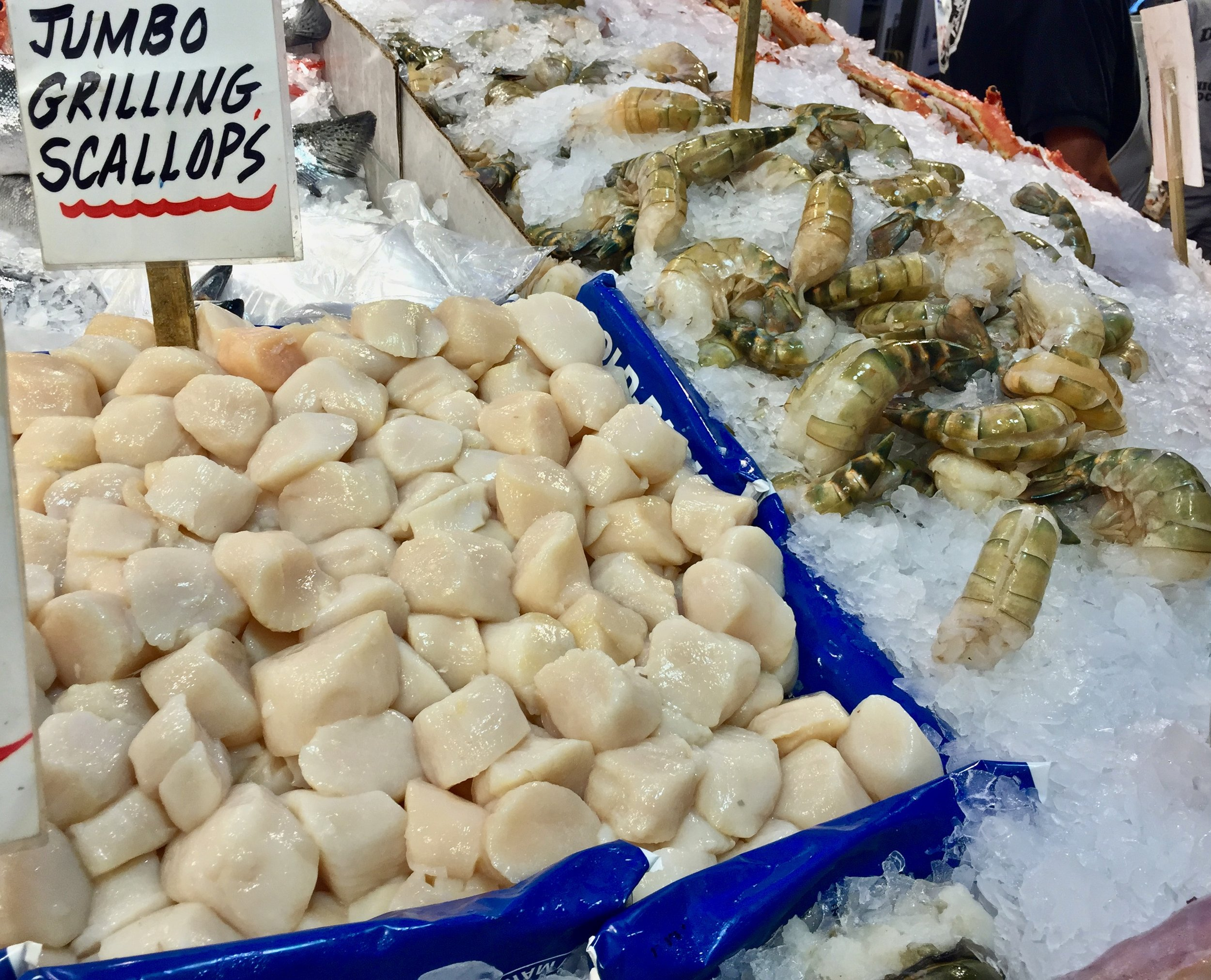 Find the freshest seafood at The Pike Place Market.
