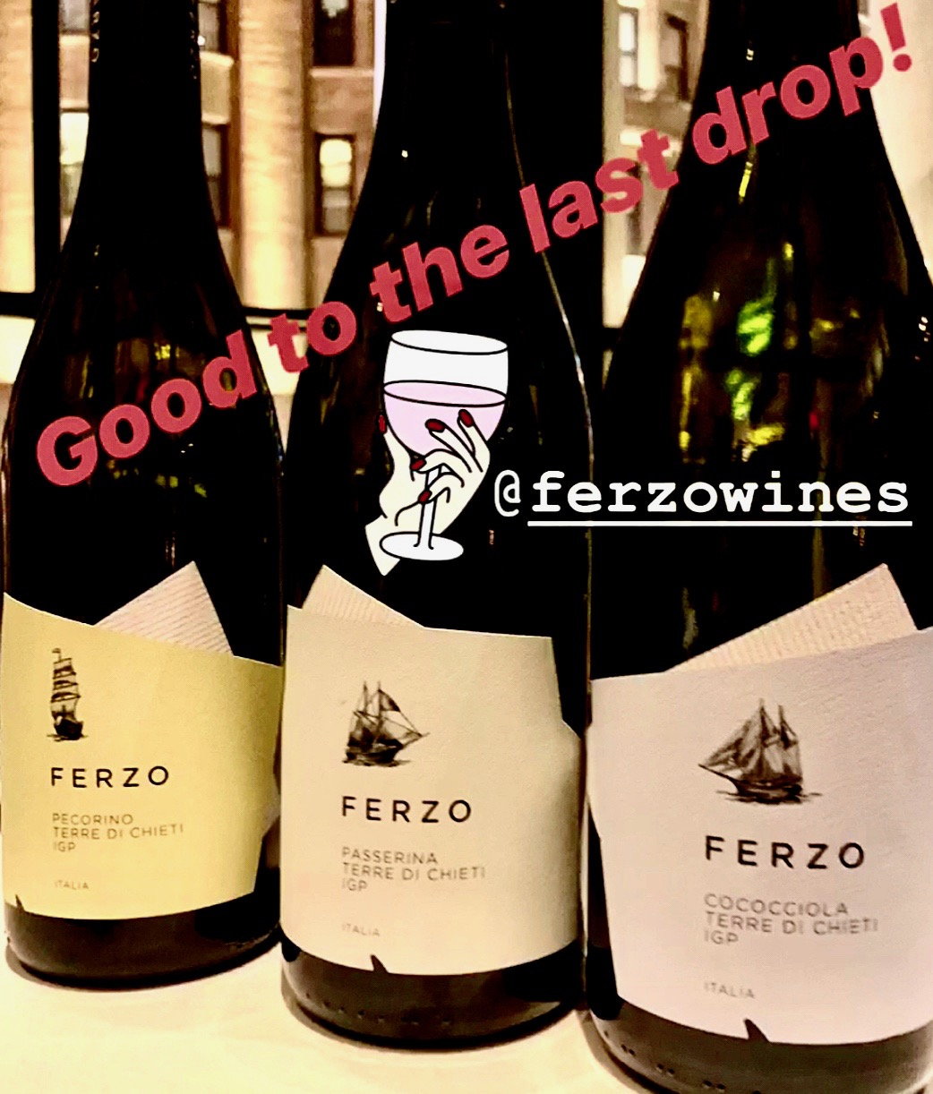 The white wines of Ferzo, as seen on Instagram. Follow @nycrestaurants for more fantastic food & wine!