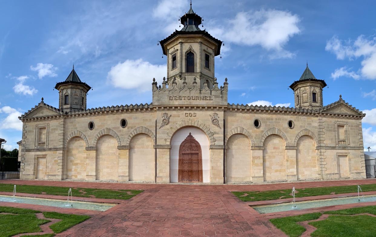 The gorgeous    Château Cos D'Estournel    in the Saint-Estèphe appellation of the Médoc.