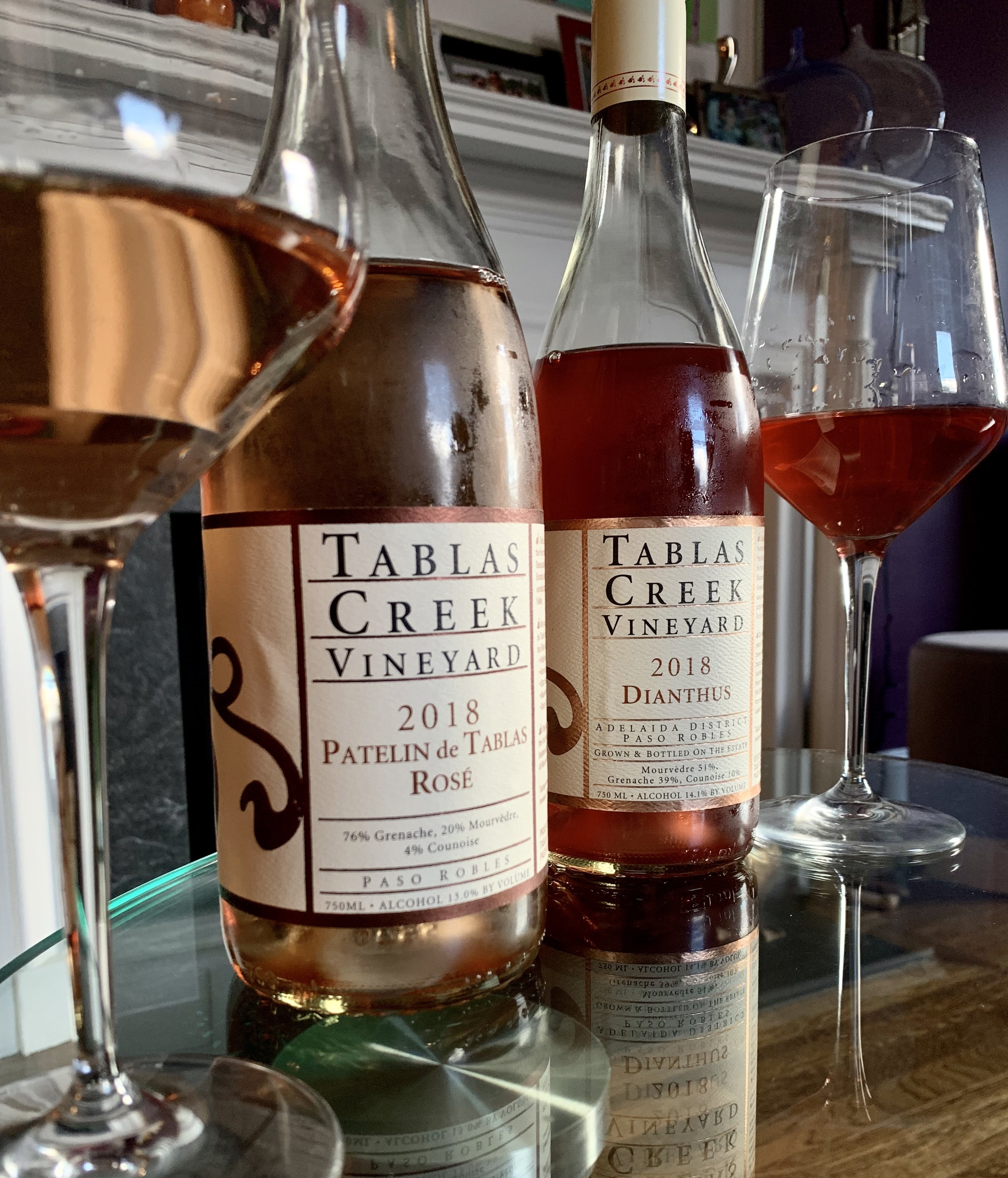 If you prefer a full-bodied dry rosé,Tablas Creek makes Dianthus (above, right), a riper style of rosé than the Patelin de Tablas.
