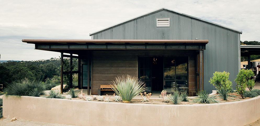 The beautifully minimalist Villa Creek winery welcomes visitors by appointment.