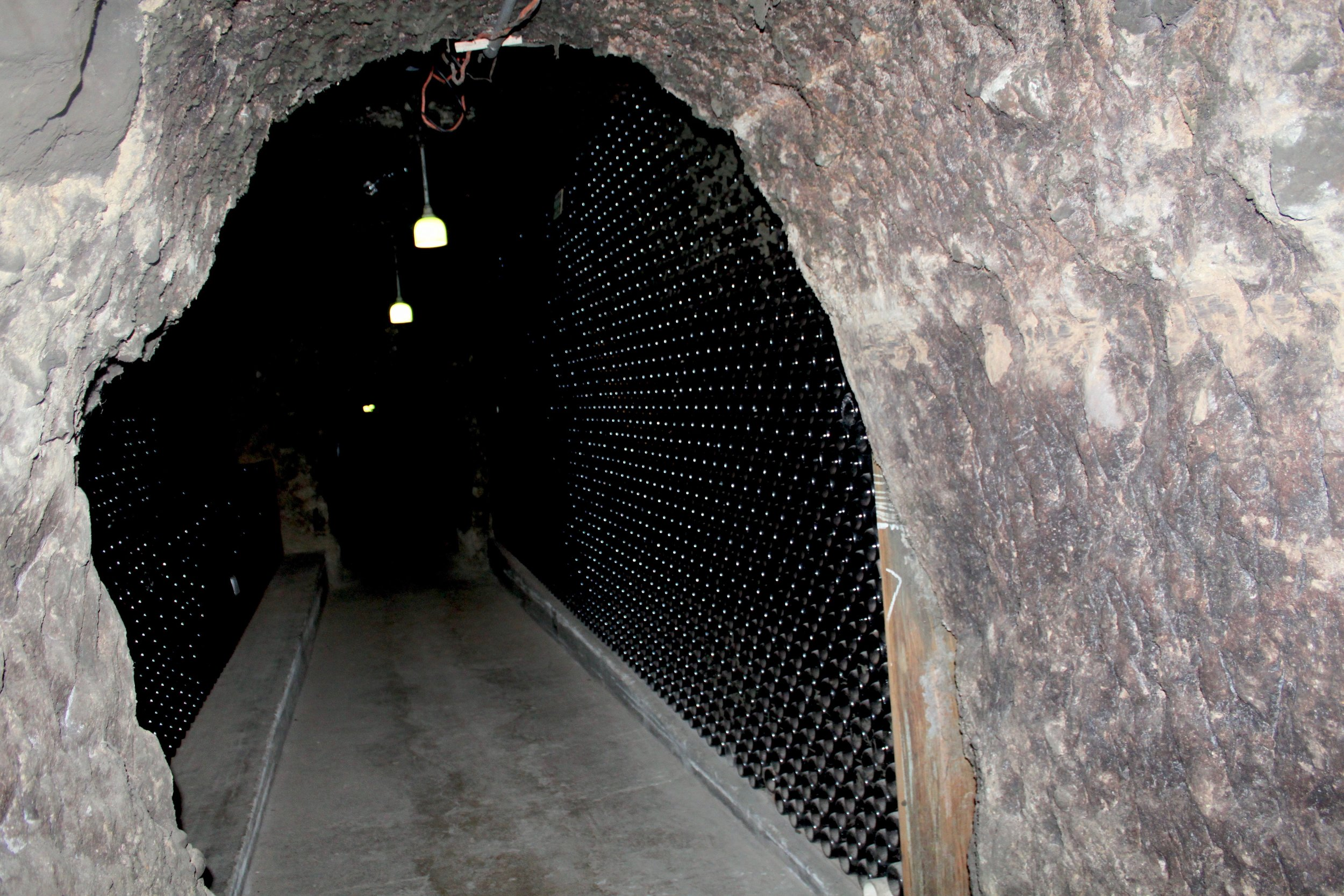 The tour at Shramsberg takes you deep into the caves.