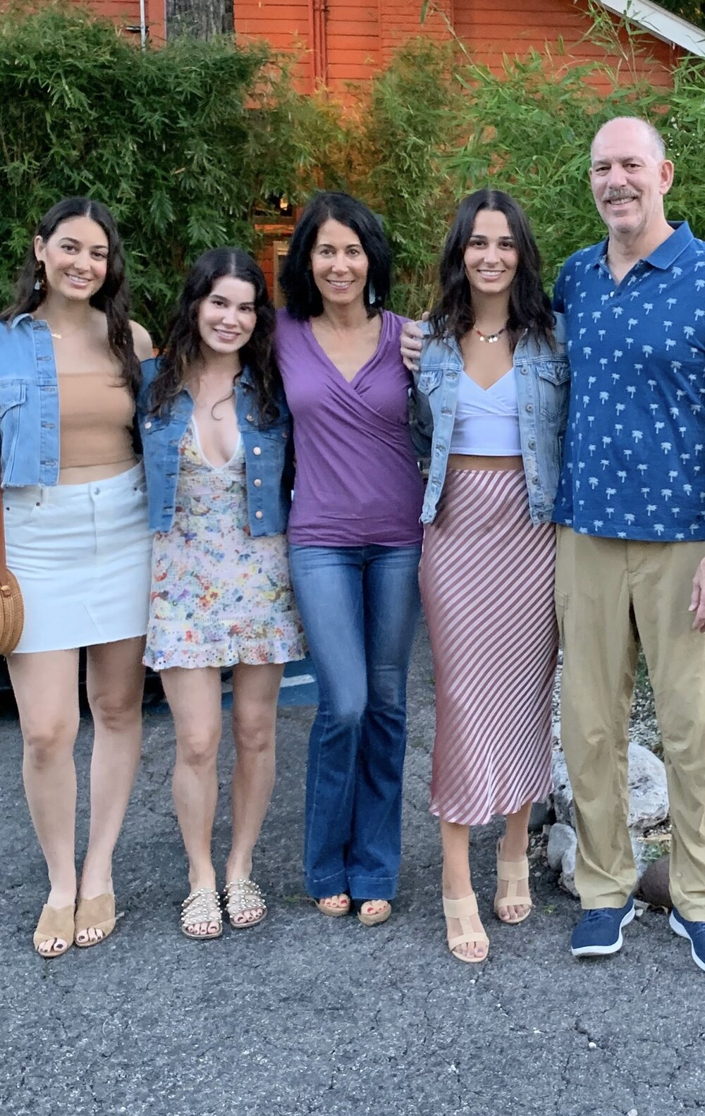The author with her family, Left to right:  Colette, Gabrielle, Lisa, Jolie, and Joel.