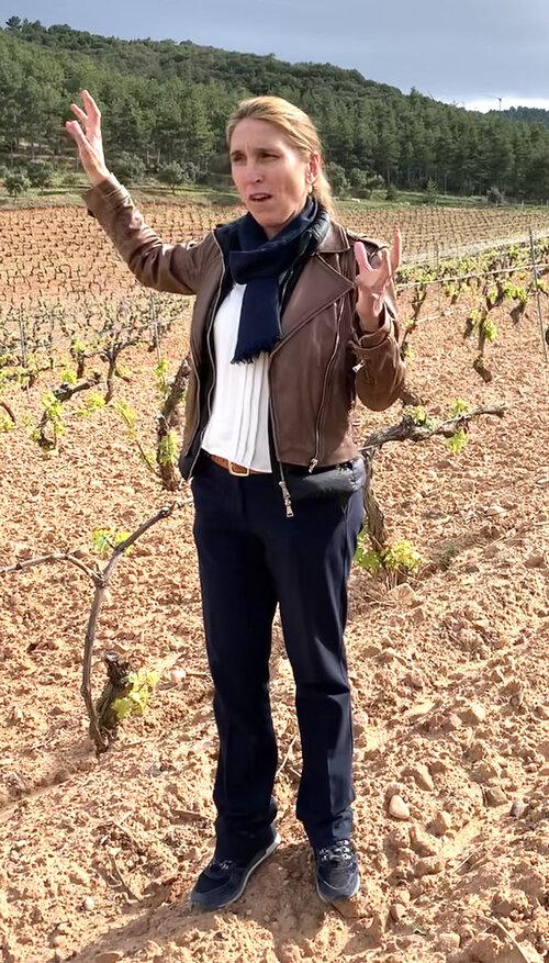 In the vineyards with Raquel Perez Cuevas.