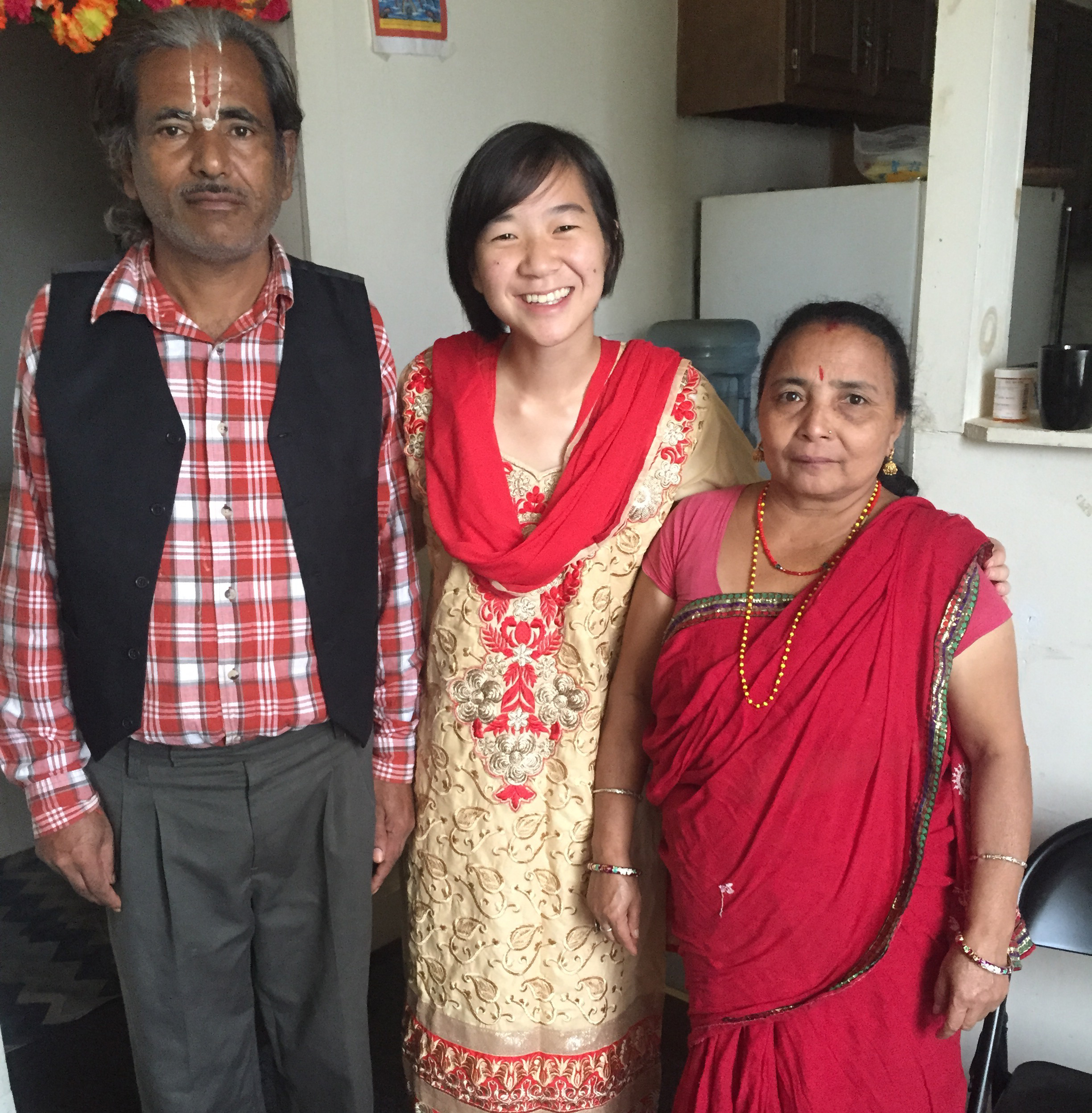 With the parents of the family I have been working with over the past 5 years