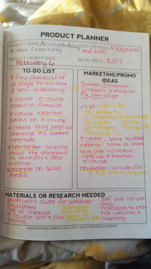 Here is the product planner i used, courtesy of the alisha nicole.