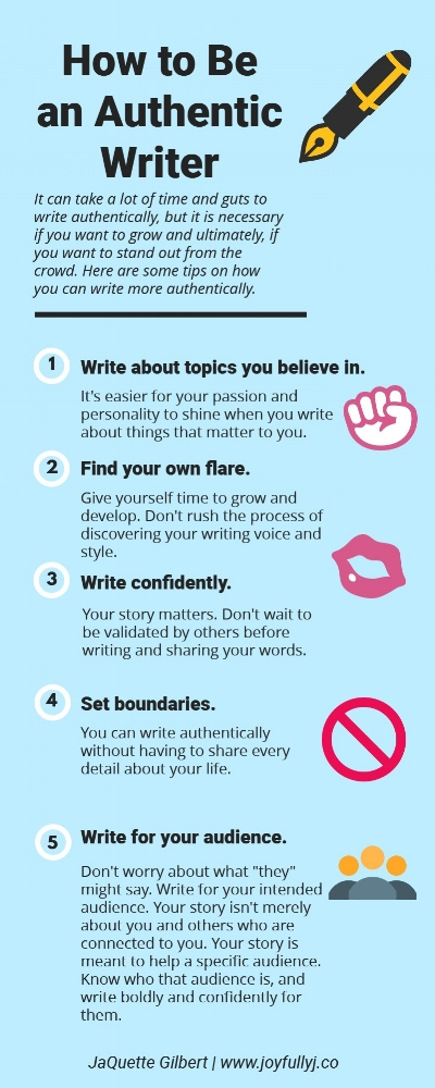 how to be an authentic writer