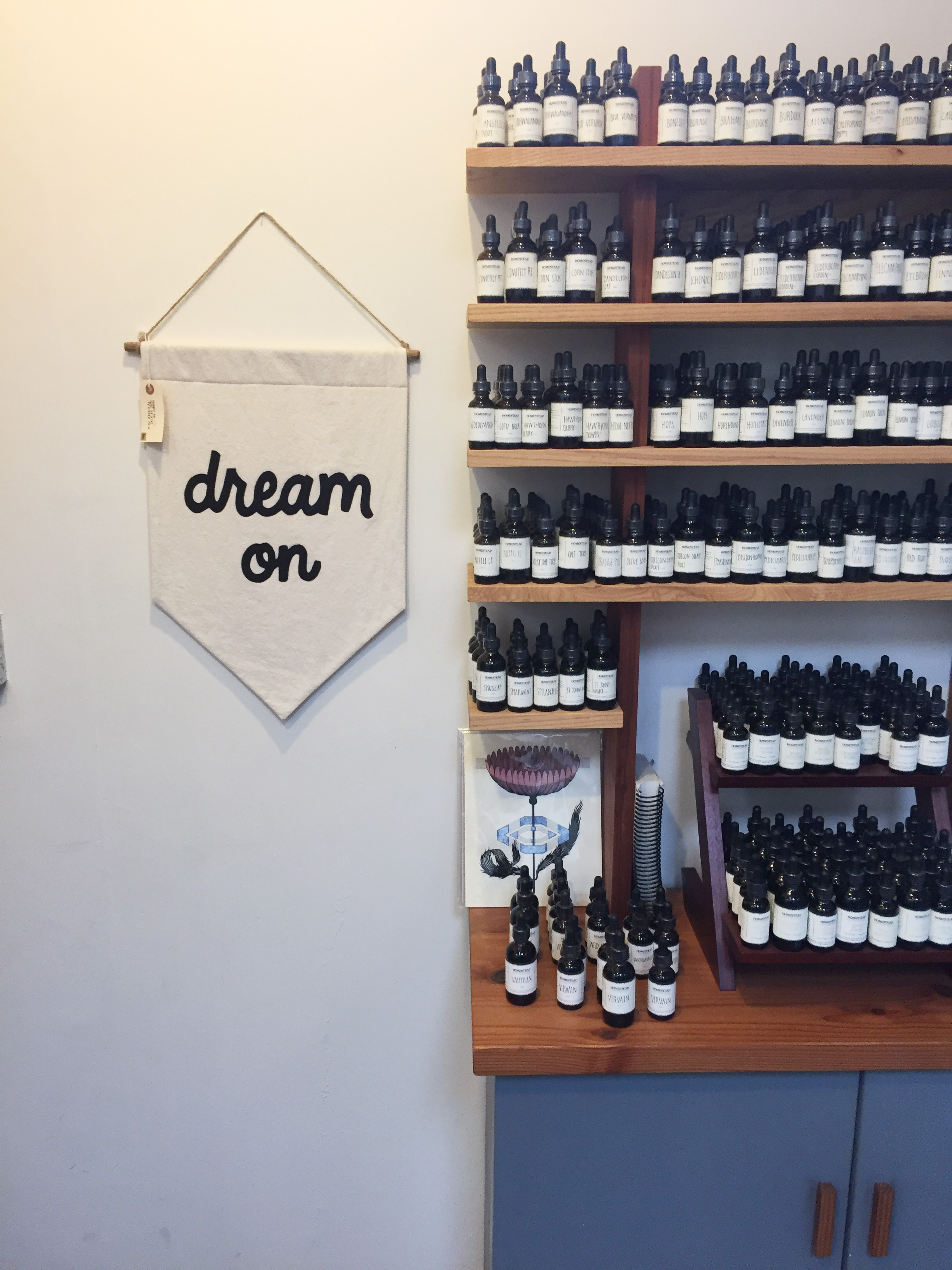 Homestead Apothecary , filled with alllll the good vibes.