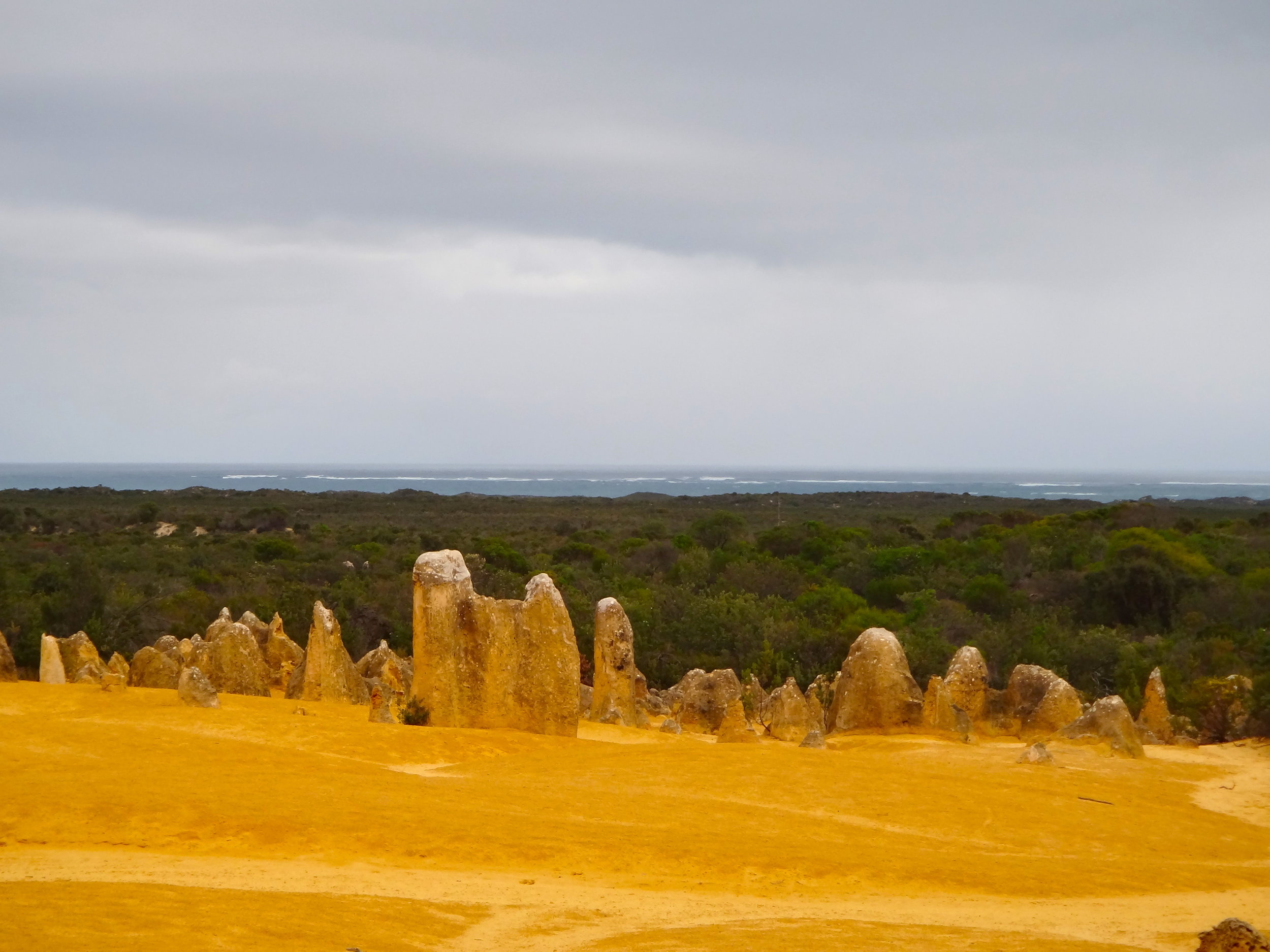 ...into fascinating sandy areas with karst pinnacles still not understood by scientists