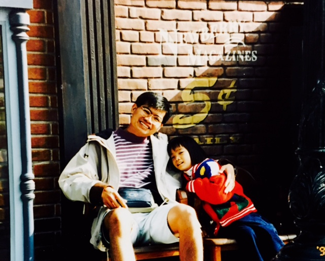 With Nika at 5 years old.