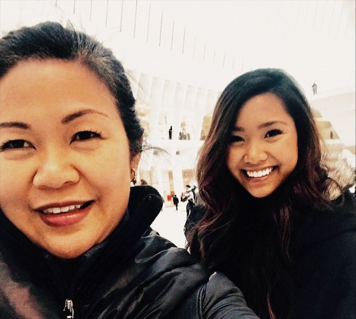 Mother and Daughter at  New  World Trade Center NYC