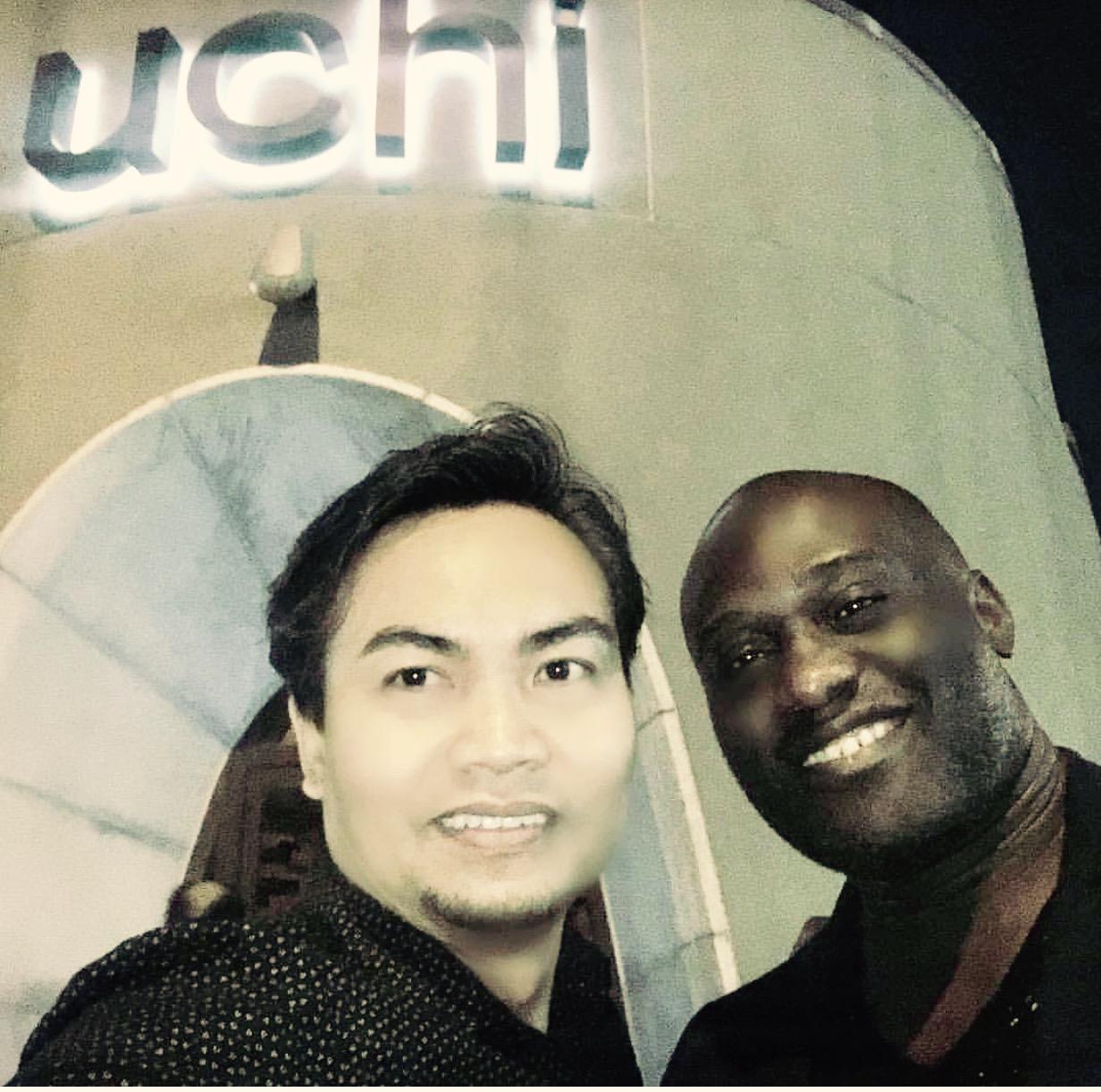 My brother Tom + My son Emeka /  UCHI  Houston