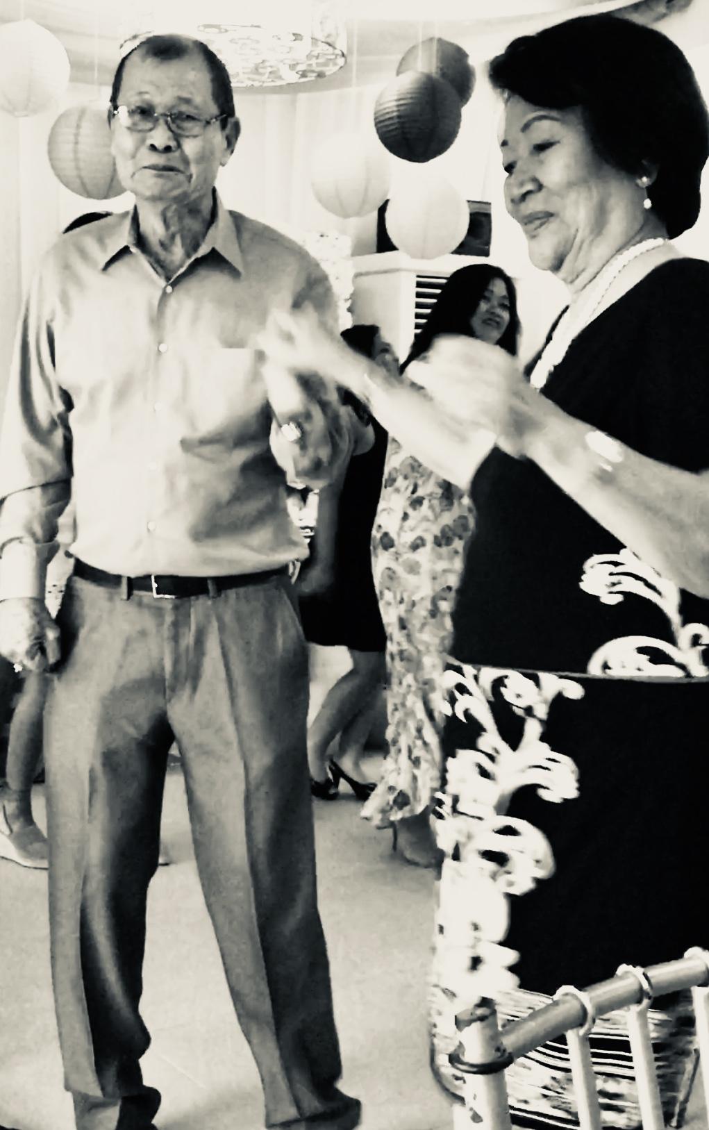 Daniel H. Soberano  with wife Leticia  My bride's Dad & Mom