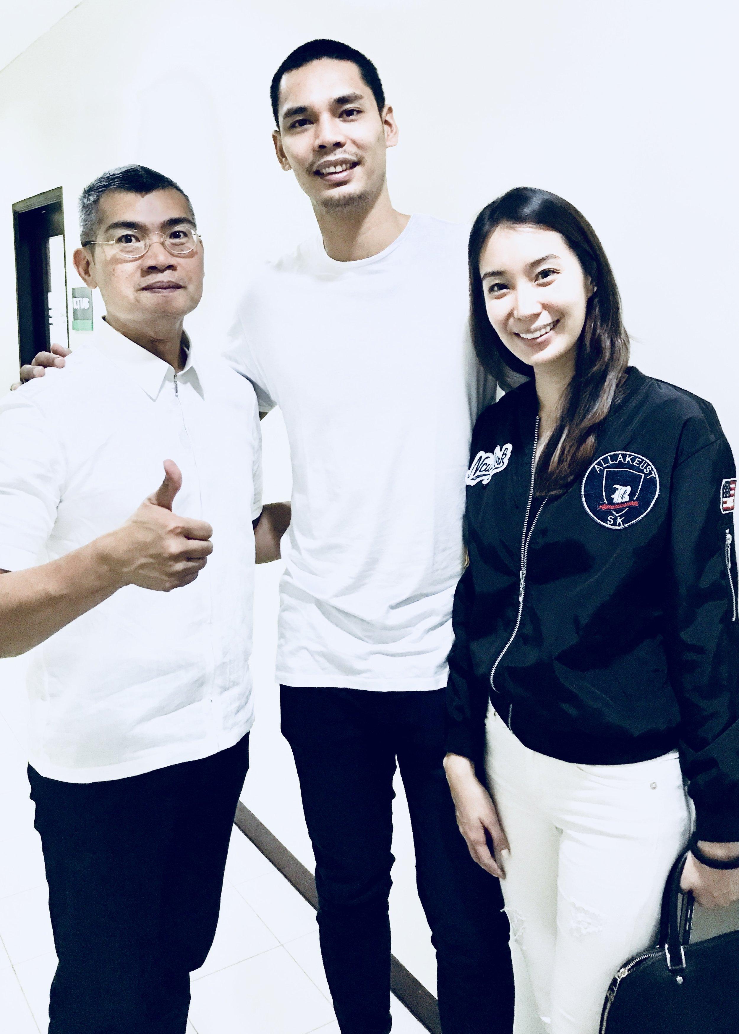 Japheth Aguilar   Pro Baller  Pilipinas Gilas & Barangay Ginebra  with beloved Cassandra