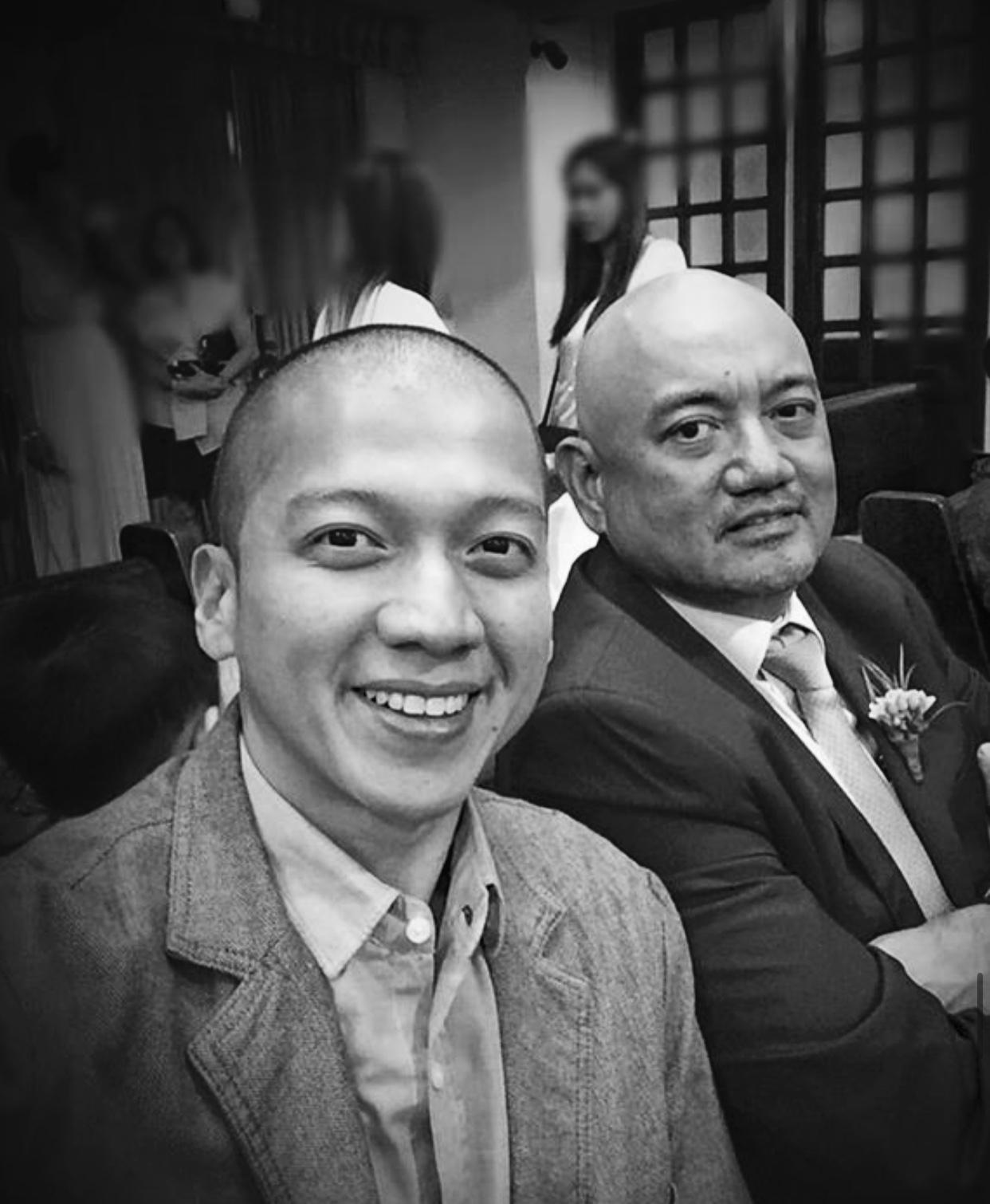Banjo Navarro III   with son Chino