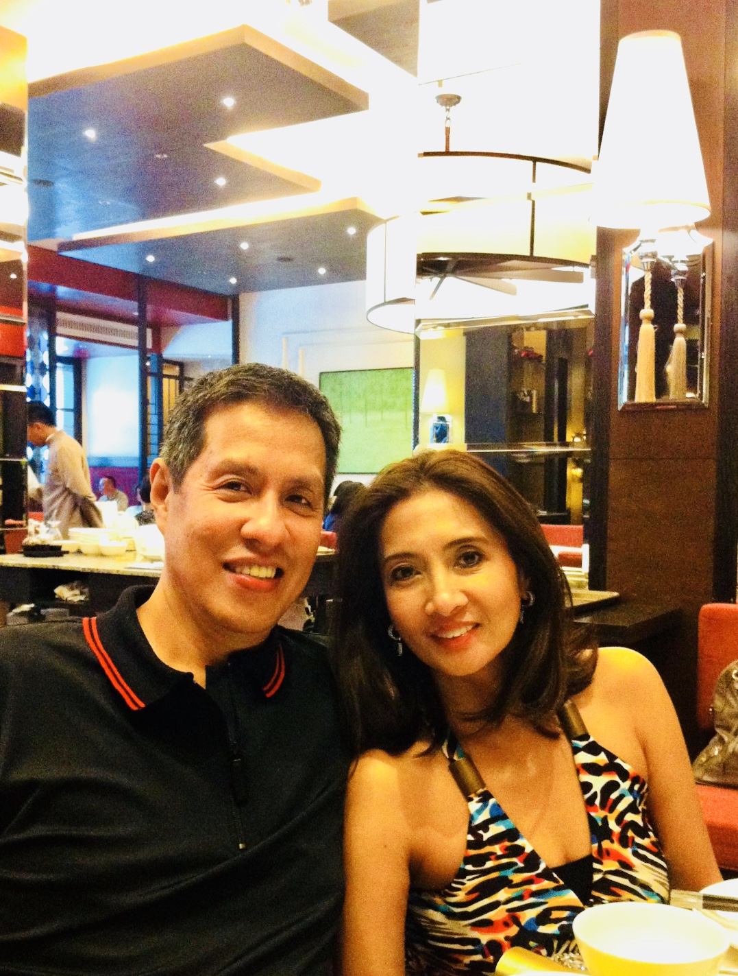Joy Armando  with heaven-resident husband Totick